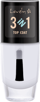 Lovely,  top coat do paznokci, 3w1, 8 ml, nr kat. 248011