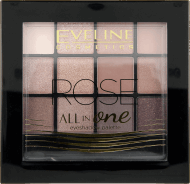 Eveline, All in one, paletka cieni, nr 2, rose, 12 g, nr kat. 261506