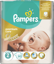 Pampers, Premium Care, pieluchy, 2 New Baby, 3-6 kg, 80 szt., nr kat. 158477