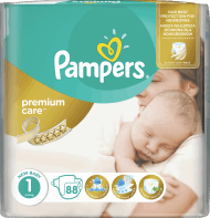 Pampers, Premium Care, pieluchy, 1 New Baby, 2-5 kg, 88 szt., nr kat. 230448