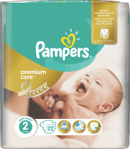 Pampers, Premium Care, pieluchy, 2 New Baby, 3-6 kg, 22 szt., nr kat. 235553
