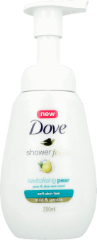 Dove, Shower Foam, pianka do mycia ciała, Pear& Aloe Vera, 200 ml, nr kat. 256861