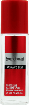 Bruno Banani, Woman's Best, dezodorant natural spray dla kobiet, 75 ml, nr kat. 258378