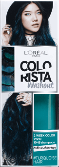 L'Oréal Paris, Colorista, washout 2-tygodniowy kolor pastel, Turquoise Hair, 80 ml, nr kat. 256408