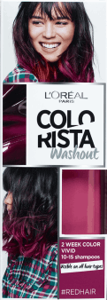 L'Oréal Paris, Colorista, washout 2-tygodniowy kolor pastel, Red Hair, 80 ml, nr kat. 256409