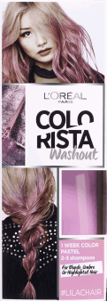 L'Oréal Paris, Colorista, washout 1-tygodniowy kolor pastel, Lilac Hair, 80 ml, nr kat. 256414