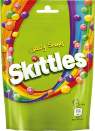 Skittles, Crazy Sours, cukierki do żucia, 174 g, nr kat. 227711