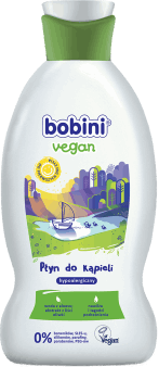 bobini, vegan, płyn do kąpieli, hypoalergiczny, 330 ml, nr kat. 264038