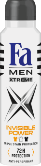 Fa Men, Xtreme Invisible Power, antyperspirant dla mężczyzn w sprayu, 150 ml, nr kat. 171115