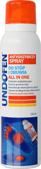 Undofen,  antygrzybiczny spray do stóp i obuwia, All in One, 150 ml, nr kat. 265377