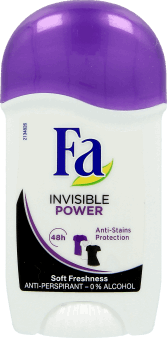 Fa, Sport, dezodorant w sztyfcie, Invisible Power, 50 ml, nr kat. 173290