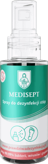 Medisept,  spray do dezynfekcji stóp, 50 ml, nr kat. 270353
