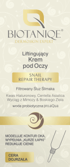 Biotaniqe, Snail Repair Therapy, liftingujący krem pod oczy, 50+, 15 ml, nr kat. 269056