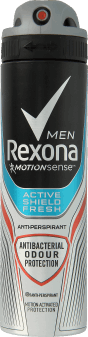 Rexona Men, Active Shields Fresh antyperspirant w sprayu dla meżczyzn, 150 ml, nr kat. 256528