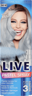 Schwarzkopf, Live, spray do włosów, pastelowe tony, Baby Blue, 125 ml, nr kat. 250745