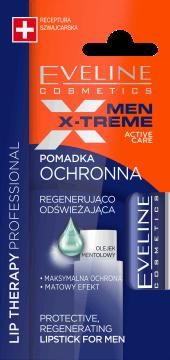 Eveline, Men X-Treme, regenerująco-odświeżająca pomadka ochronna dla mężczyzn, 4 g, nr kat. 276303