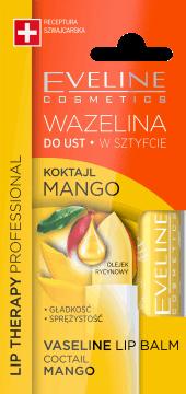 Eveline, Lip Therapy Professional, wazelina do ust w sztyfcie, koktajl mango, 3,8 g, nr kat. 276315