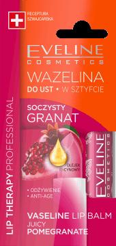 Eveline, Lip Therapy Professional, wazelina do ust w sztyfcie, soczysty granat, 3,8 g, nr kat. 276313