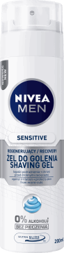 NIVEA MEN, Sensitive Recovery, regenerujący żel do golenia, 200 ml, nr kat. 279403