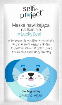 Selfie Project,  nawilżająca maska na tkaninie, LuckySeal, 15 ml, nr kat. 269488