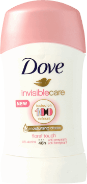 Dove, Invisible Care, antyperspirant w sztyfcie damski, Floral Touch, 40 ml, nr kat. 280696