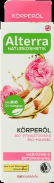 Alterra, olejek do ciała, Piiwonia Bio & Migdały Bio, 100 ml, nr kat. 269929