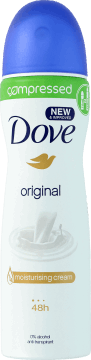 Dove, Compressed, antyperspirant damski w sprayu, Original, 75 ml, nr kat. 284553