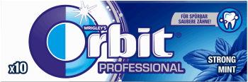 Orbit, Professional, guma do żucia w drażetkach, Strong Mint, 10 szt., nr kat. 288973