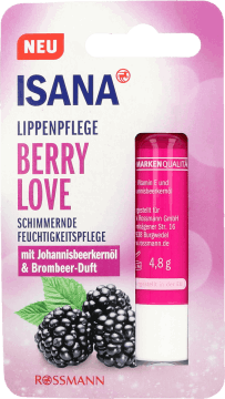 Isana, Berry Love, pomadka do ust,  4,8 g, nr kat. 288895