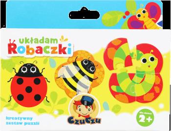 czuczu pierwsze puzzle kreatywny zestaw puzzli uk adam robaczki dla dzieci 2 1 szt nr kat. Black Bedroom Furniture Sets. Home Design Ideas