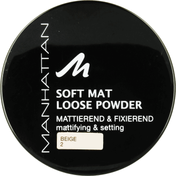 Manhattan, Soft Mat Loose Powder, puder sypki, nr 2 Beige, 20 g, nr kat. 130479
