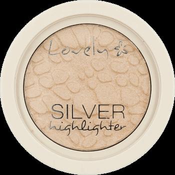 Lovely, Silver Highlighter, rozświetlacz do twarzy o chłodnym odcieniu, 1 szt., nr kat. 219472