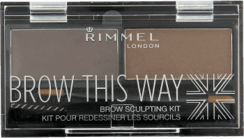 Rimmel, Brow This Way, cienie do brwi, nr 002 Medium Brown, 1 szt., nr kat. 251627