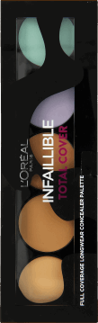 L'Oréal Paris, Infaillible, paleta z korektorami do twarzy, Total Cover, 1 szt., nr kat. 261718