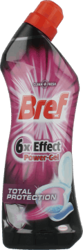 Bref, 6x Effect Power Gel, wielofunkcyjny środek do WC, Total Protection, 750 ml, nr kat. 122789