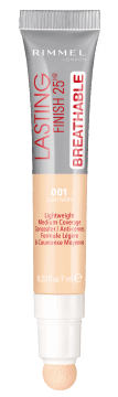 Rimmel, Lasting Finish 25HR Breathable, korektor, 001 Light Ivory, 7 ml, nr kat. 275365