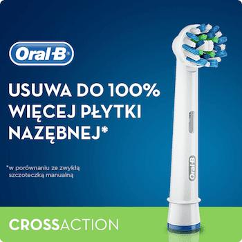 Oral B Crossaction Końcówki Wymienne Do Szczoteczki Elektrycznej